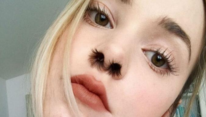 Modes pārpratums – populāras kļūst mākslīgās deguna spalvas