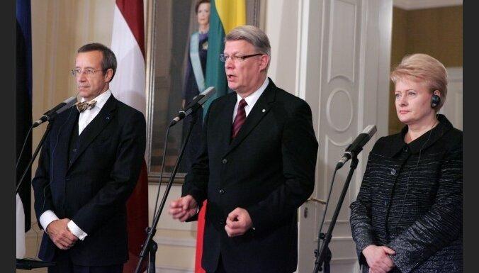 Главы балтийских стран— за отношения между Европой и США