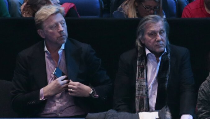 Boris Becker and Ilie Nastase