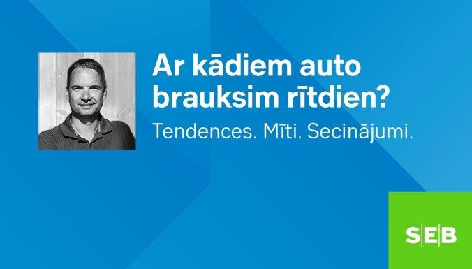 """Notika SEB bankas tiešsaistes diskusija """"Ar kādiem auto brauksim rītdien? Tendences, mīti, secinājumi."""" Ieraksts."""