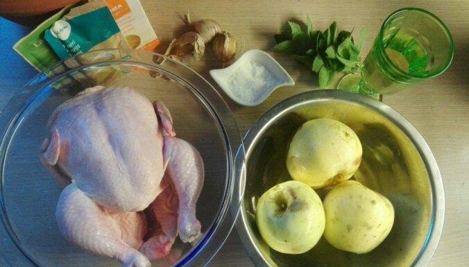 Рецепт с фото: готовим куриное жаркое в яблочно-чесночном соусе