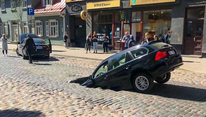 Временная администрация РД потребовала объяснений по поводу провалившейся дороги на улице Гертрудес