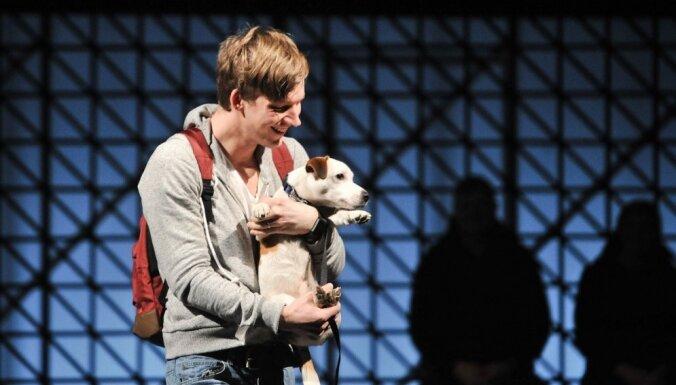 'Jābūt trakam, lai audzinātu Džeka Rasela terjeru.' Jaunākais Nacionālā teātra 'aktieris' – suņuks Maffins