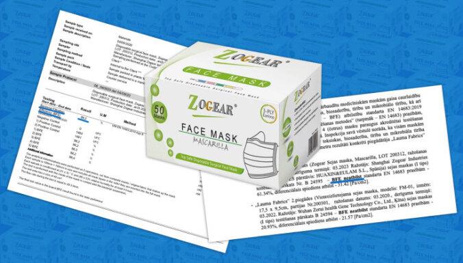Kad neiztur testus, rezultātus nepublisko, maina laboratoriju – kā valsts pārbaudīja iepirktās maskas