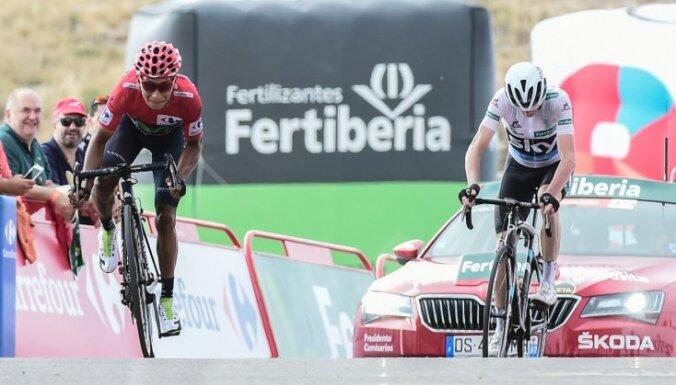 Kvintana finišē blakus Frūmam un praktiski nodrošina 'Vuelta Espana' uzvarētāja titulu