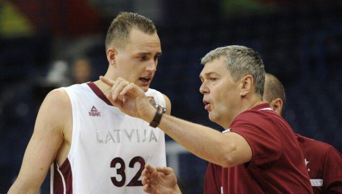 Сборная Латвии провела первый контрольный матч перед Евробаскетом
