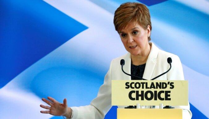 Stērdžena: Skotijas parlamentā vairākums būs neatkarības atbalstītājiem