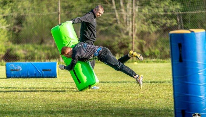 Foto: Latvijas regbija čempioni 'Livonia' atsāk treniņus