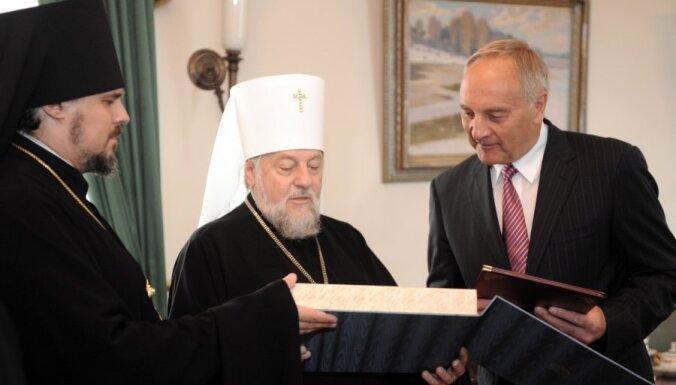 Prezidents Bērziņš: valsts var palīdzēt baznīcai tikai pēc ekonomiskās atveseļošanās