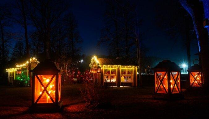 ФОТО. Как выглядит зимний Тукумс в праздничном наряде