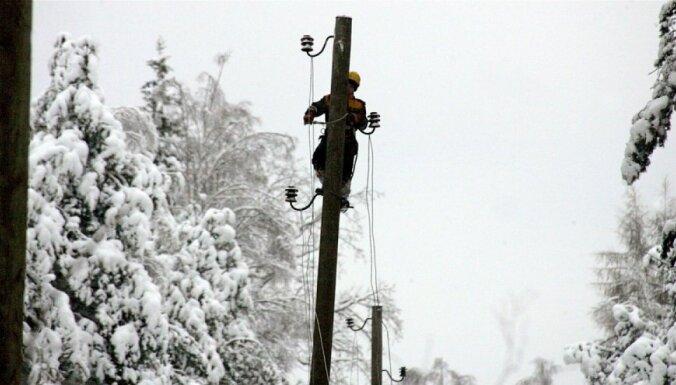 Lielā sala dēļ elektroapgādes traucējumi Valkas, Krāslavas un Ludzas novadā