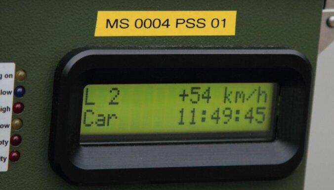 No sestdienas uz Latvijas ceļiem darbojas 34 'ātruma ķērāji'