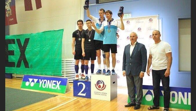 Starptautiskajā badmintona turnīrā Latvijā uzvar spēlētāji no Krievijas un Francijas
