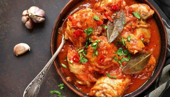 Чахохбили или курица тушеная с помидорами