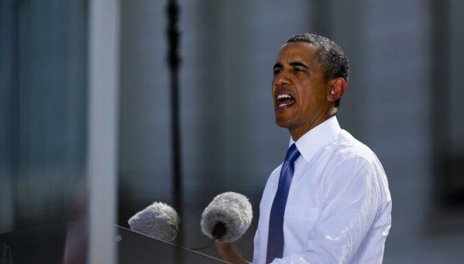 Покинувшие митинг люди сорвали речь Обамы