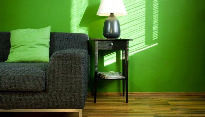 Par zaļu pat vēl zaļāks. Nomierinošās krāsas klātbūtne interjerā