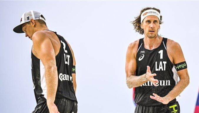 Samoilovs/Šmēdiņš turnīrā Kankunā piekāpjas ceturtdaļfinālā