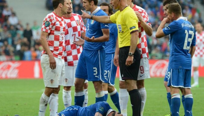 Тренер Хорватии: судья слишком много помогал Италии