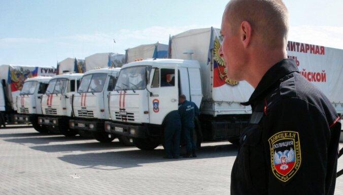 Ukrainā iebraucis kārtējais Krievijas 'humānās palīdzības' konvojs