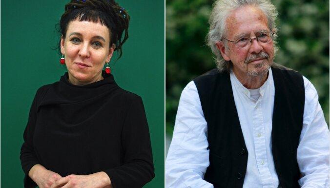 Nobela prēmija literatūrā piešķirta Olgai Tokarčukai un Pēteram Handkem