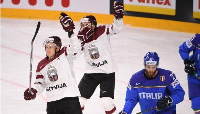 Džeriņš gūst divus vārtus; Latvijas izlase perfekti turpina PČ