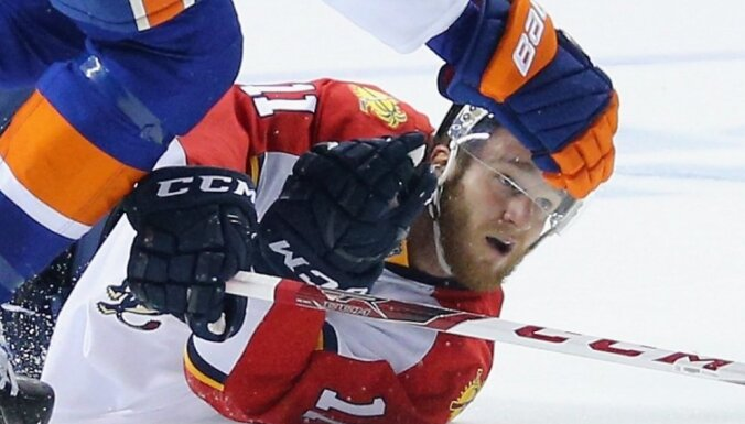 Jonathan Huberdeau #11 of the Florida Panthers