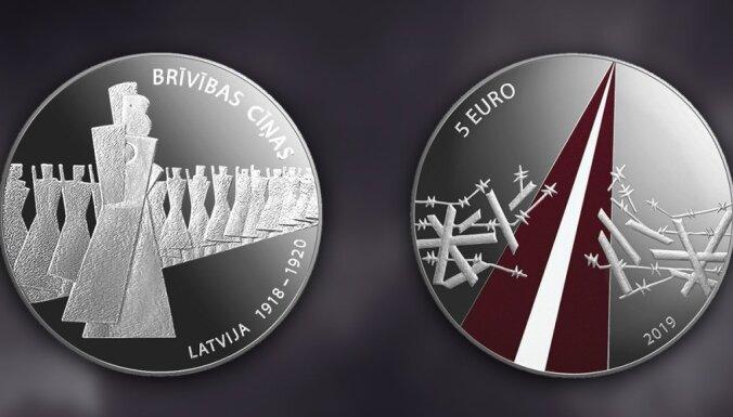 Latvijas Banka izlaidīs Brīvības cīņām veltītu monētu