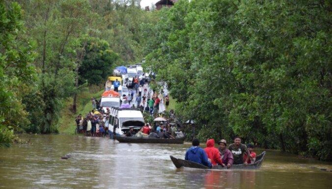 Postošā vētra 'Eliakim' Madagaskarā dzīvību atņēmusi 20 cilvēkiem