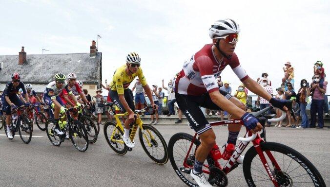 Skujiņš 'Tour de France' garākajā posmā iesaistās dienas atrāvienā un izcīna augsto 11. vietu