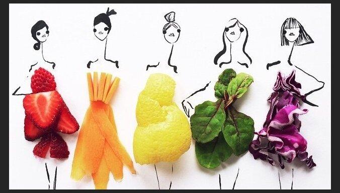 ФОТО: Модельер создает поразительные эскизы костюмов, используя овощи и фрукты