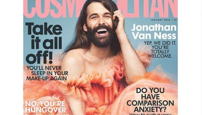 С бородой и в платье: мужчина попал на обложку женского журнала впервые за 35 лет
