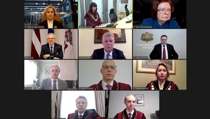 Video: Satversmes tiesa ar svinīgu sēdi sāk jauno tiesas gadu (plkst. 12.44)