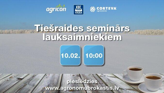 Notiks tiešraides seminārs lauksaimniekiem 'Agronomu brokastis'
