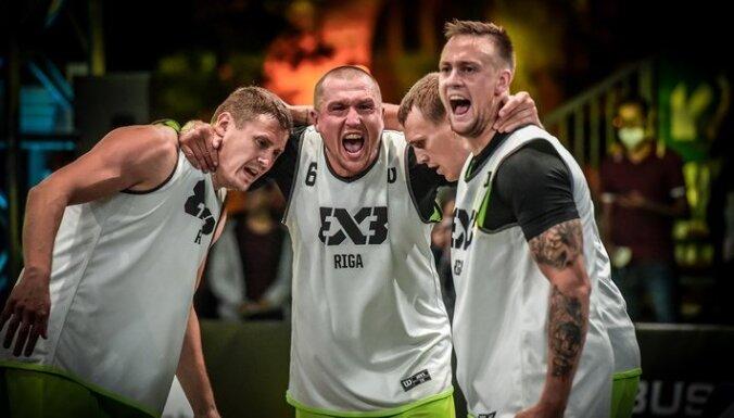 'Rīgas' 3x3 basketbola komanda beidz Pasaules tūres pirmā posma sacensības ar zaudējumu pusfinālā