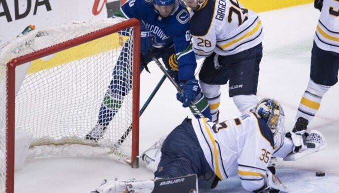 Girgensons gūst rezultatīvu piespēli NHL mačā, tomēr neglābj 'Sabres' no zaudējuma