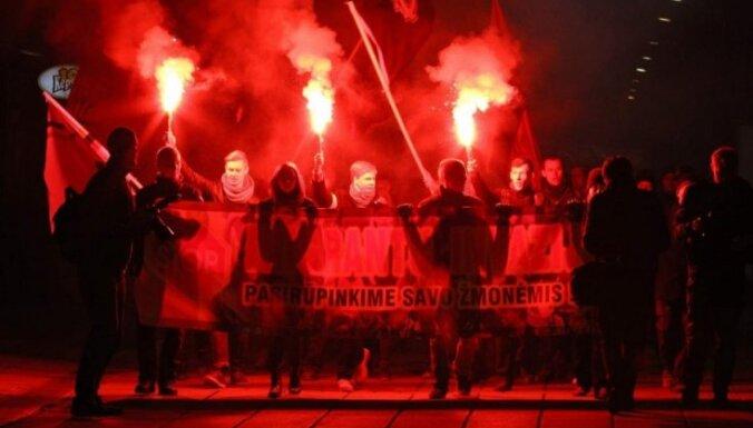 В Каунасе сотня человек протестовала против беженцев