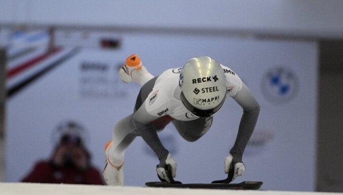 Skeletoniste Tērauda pēc pirmās dienas pasaules čempionātā apsteidz tikai trīs sportistes