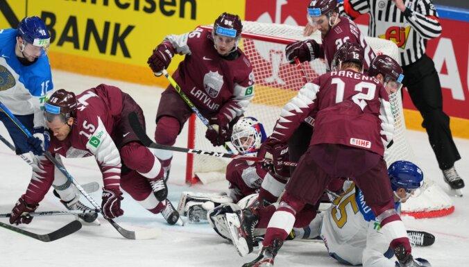 Latvijas hokejisti pēc sensācijas paklūp pret Kazahstānu