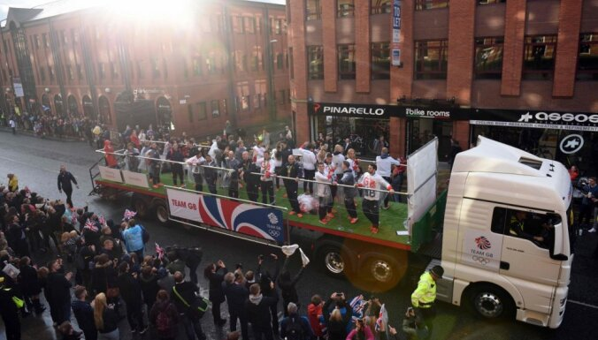 "British Olympic and Paralympic ""Heroes Parade"" in Manchester"