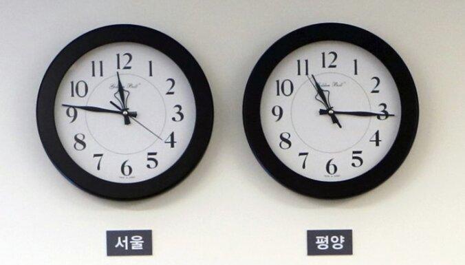 Ziemeļkoreja mainījusi laika zonu