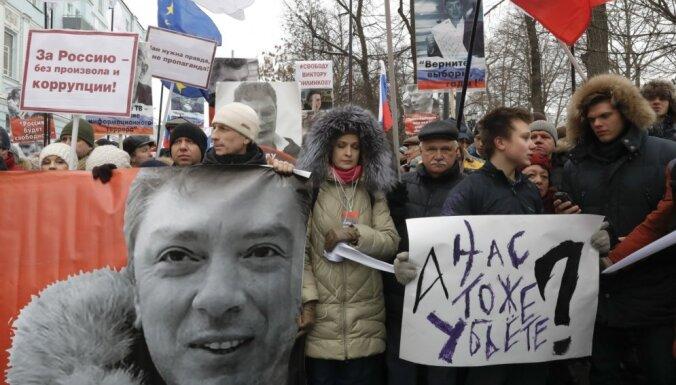 В Москве марш памяти Бориса Немцова собрал 6000 участников