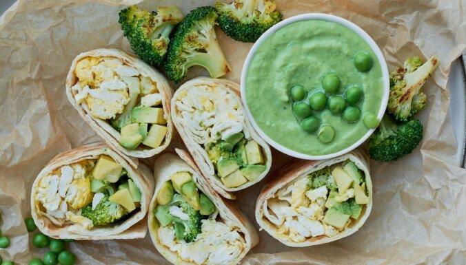 Zaļie brokastu burito