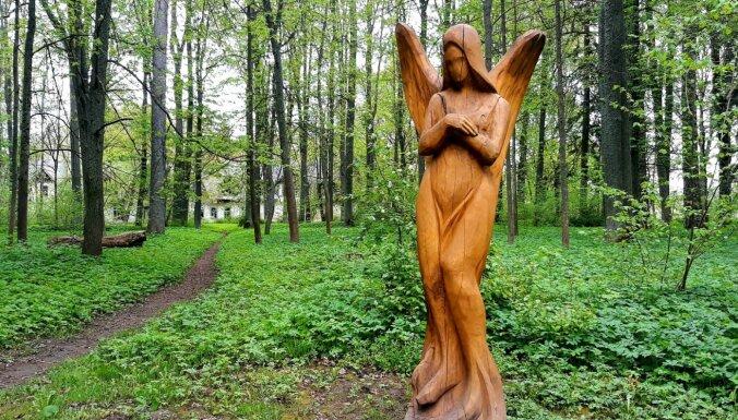 """ФОТО. Парк Галенского поместья, в котором """"собрались"""" интересные деревянные скульптуры"""