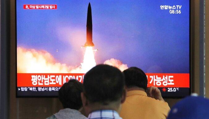 Ziemeļkoreja apsūdz ANO dubultstandartos saistībā ar raķešu izmēģinājumiem