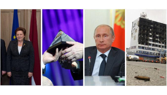 Šulcs ciemojas Rīgā, 'Gada balva sportā 2014', Putina runa un uzbrukums Groznijā