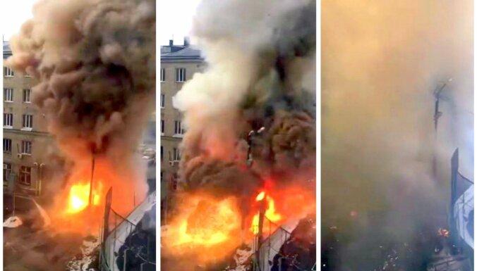 Video: Krievijā sprādziens izrauj Covid-19 slimnīcas stūri