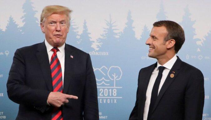 "Трамп пригрозил Макрону санкциями ""за глупость"""
