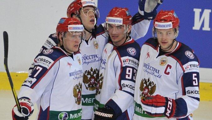 Krievijas izlases kapteinis Ņikuļins: lai Latvija domā, ka var mūs uzvarēt