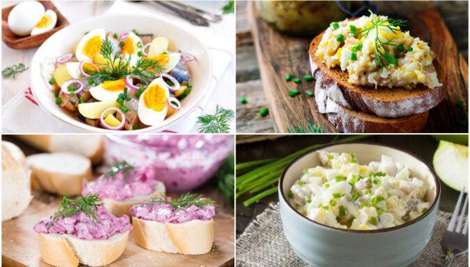 Rasolā, vinegretā un 'kažokā': 17 salāti ar kreptīgu siļķīti