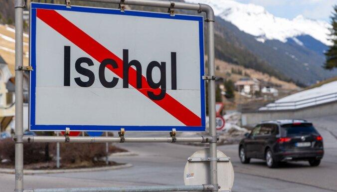 'Covid-19':Simtiem eiropiešu inficējušies Austrijas slēpošanas kūrortā